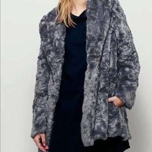 Free People Faux Fur Bliss Swingy Coat Small